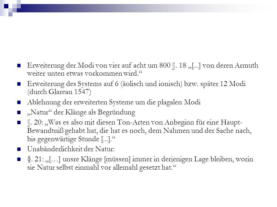 """Erweiterung der Modi von vier auf acht um 800 §. 18 """"["""